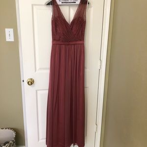 Dresses & Skirts - Rose colored bridesmaid dress fits like a size 0*